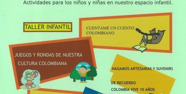 Fiesta Nacional Colombiana 2011 – Actividades para las niñas y niños en nuestro espacio infantil