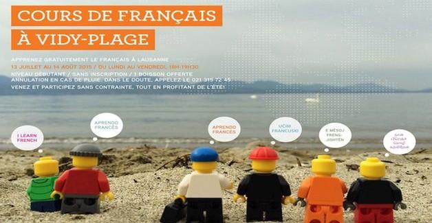 Le Français les pieds dans l'eau