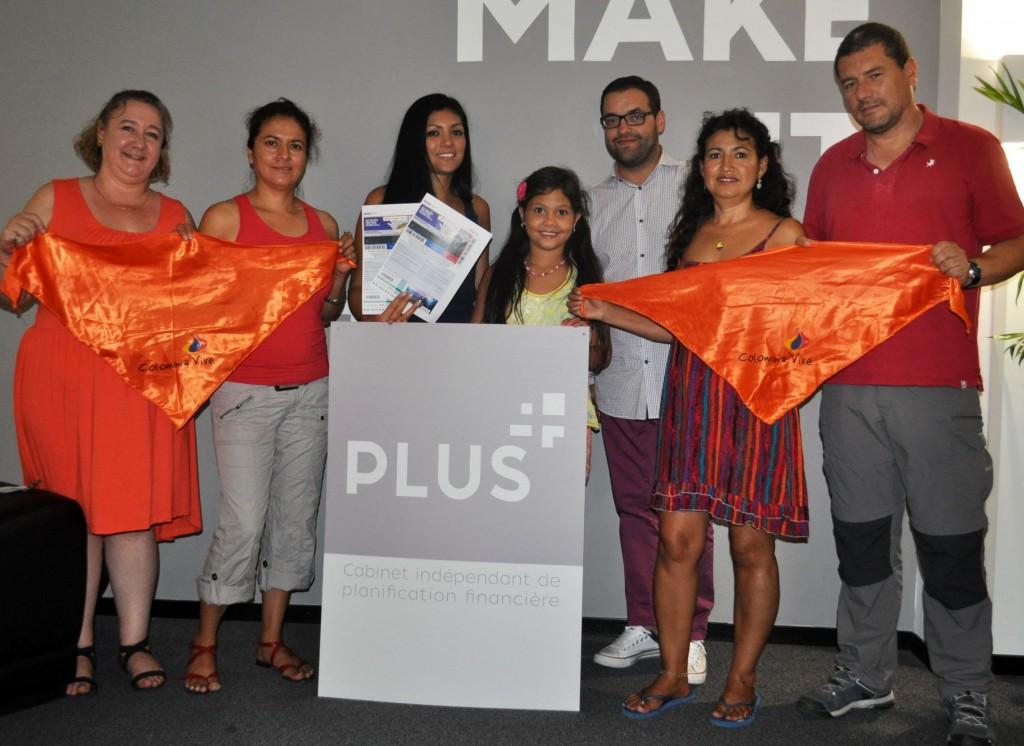 Izquierda-derecha: Isabelle Steinhäuslin, Leydi Galeano, Allan Liechti, Angela Liechti, Paulo de Sousa, Esperanza Pascuas y Dario Acero