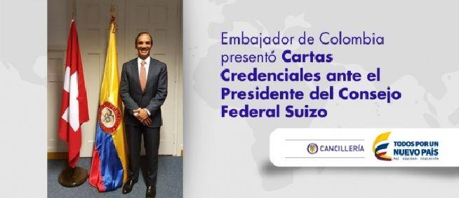 Nuevo Embajador de Colombia  en Suiza