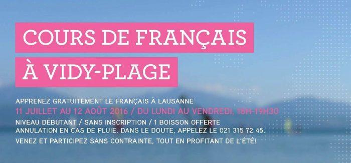 Cours de français à Vidy-Plage