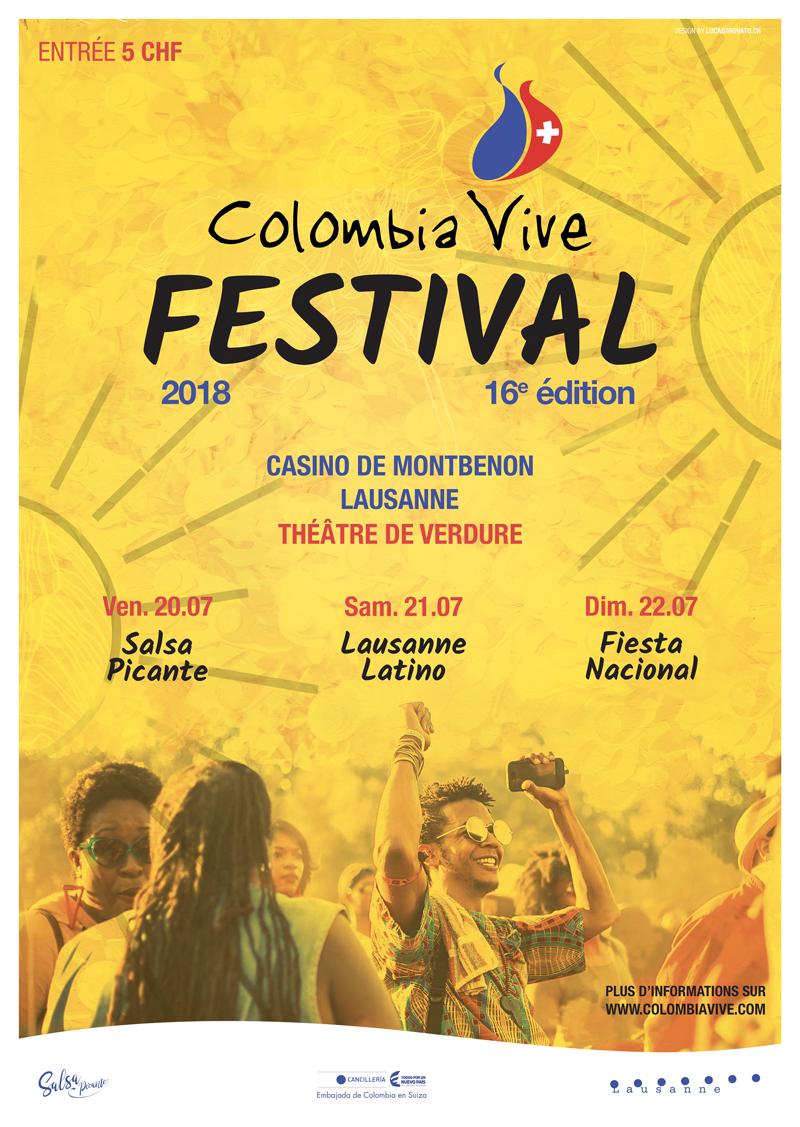 Affiche du Colombia Vive Festival