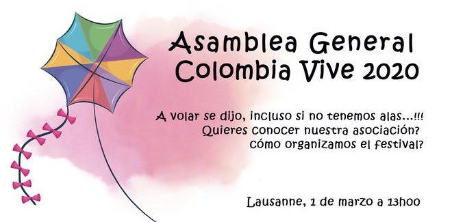 Asamblea General de Colombia Vive en Suiza 2020
