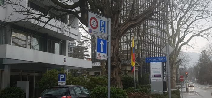 Carta a la Embajada de Colombia en Suiza